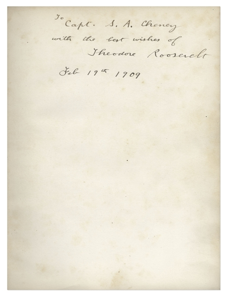 Theodore Roosevelt Signed Book as President, on the Occasion of the Tricentennial Anniversary of the Jamestown Settlement of America