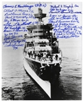 U.S.S. Indianapolis Survivors Signed 8 x 10 Photo -- Signed by 24 Survivors