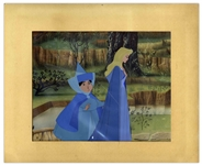 Large Disney Cel From Sleeping Beauty -- Depicting Princess Aurora With Her Fairy Godmother Merryweather