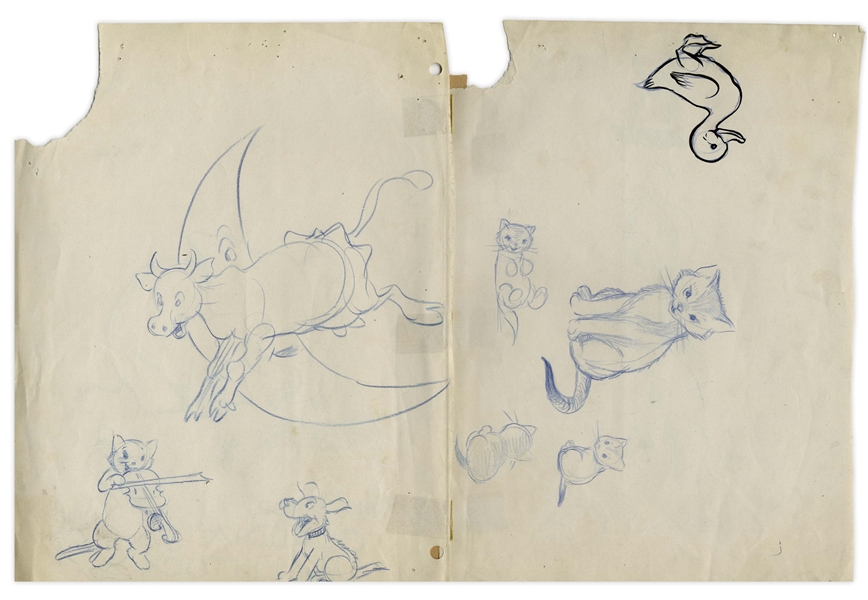 Fantastic Dr. Seuss Lot of 3 Letters Signed & Illustrations From His Pivotal Year of 1957 -- ''...THE CAT IN THE HAT will, shortly, be my best known animal...'' -- Also Several Drawings by Walt Kelly