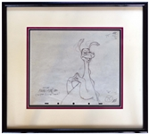 Ward Kimball Signed Drawing of His Creation, the Reluctant Dragon