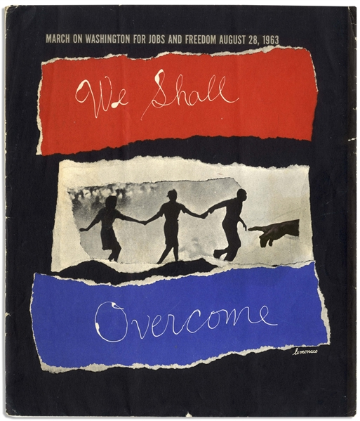 ''We Shall Overcome'' Portfolio From the ''March on Washington for Jobs and Freedom'' -- Rare Complete Portfolio of Collages Issued by the National Urban League as a Memento for Marchers