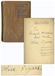 Will Rogers Signed Book, Letters of a Self-Made Diplomat to His President