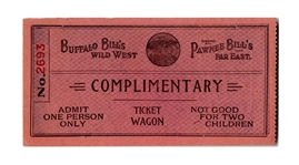 Ticket to Buffalo Bill Codys Wild West Show
