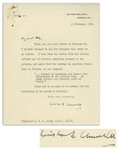 Winston Churchill Letter Signed as Prime Minister, Regarding Corrections to His WWII Memoir, The Second World War