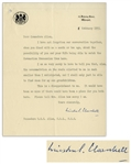 Winston Churchill Letter Signed as Prime Minister -- Regarding the Coronation of Queen Elizabeth II