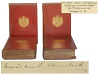 Winston Churchill Signed Limited First Edition of Marlborough: His Life and Times -- Rare Set Signed by Churchill, One of Only 155 in the Limited Edition, Here in the Original Bindings