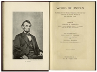 First Edition of Words of Lincoln From 1895, With Excerpts of Abraham Lincolns Speeches & Writings