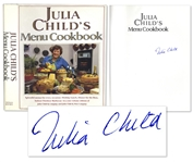 Julia Child Signed Julia Childs Menu Cookbook