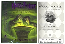 Harry Potter and the Half-Blood Prince -- First American Edition, First Printing