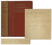 Winston Churchill Signed First U.S. Edition of A Roving Commission, My Early Life