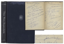 John Wayne and John Ford Cast-Signed Book for They Were Expendable