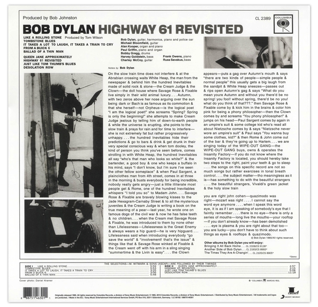 Bob Dylan Signed Album ''Highway 61 Revisited'' -- With Roger Epperson COA