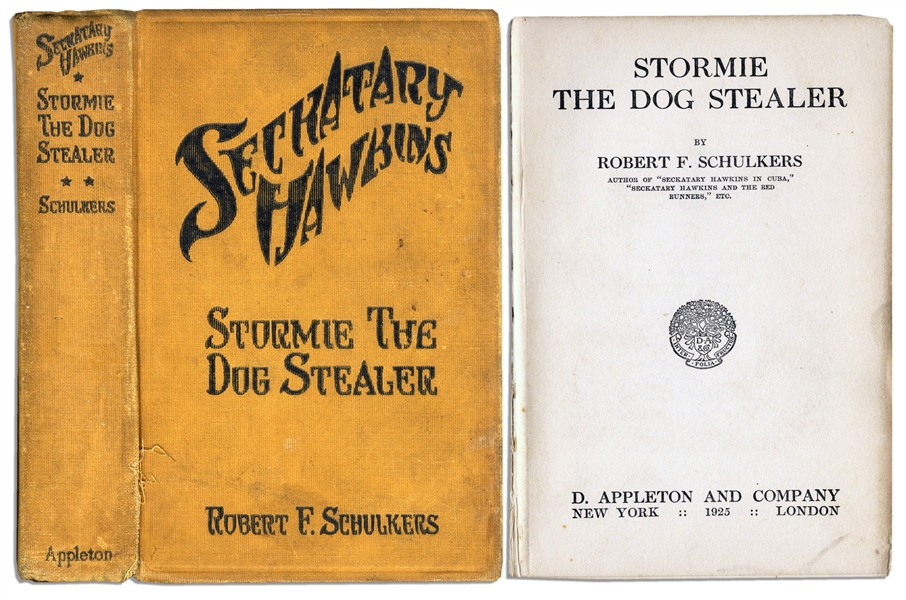 Seckatary Hawkins Acclaimed Children's Book, ''Stormie The Dog Stealer'' -- 1925 First Edition -- One of the Rarest Titles of the Hawkins Series