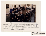 Bill Clinton Signed 20 x 15 Photograph of His Entire Cabinet -- Signed by All 23 Including Clinton & Al Gore