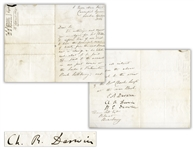 Charles Darwin Letter Signed From 1864