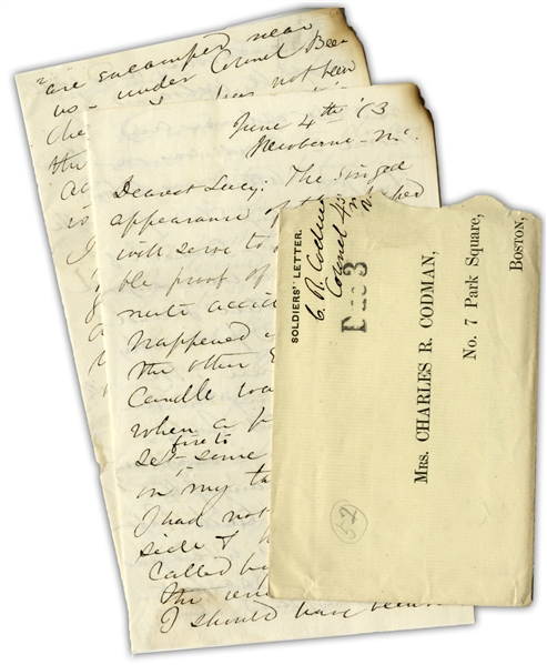 Civil War Archive by the Colonel Commanding the 45th Massachusetts Infantry -- ''...The battle at Kingston was a severe initiation...One man was killed at my side and many were hit all around me...''