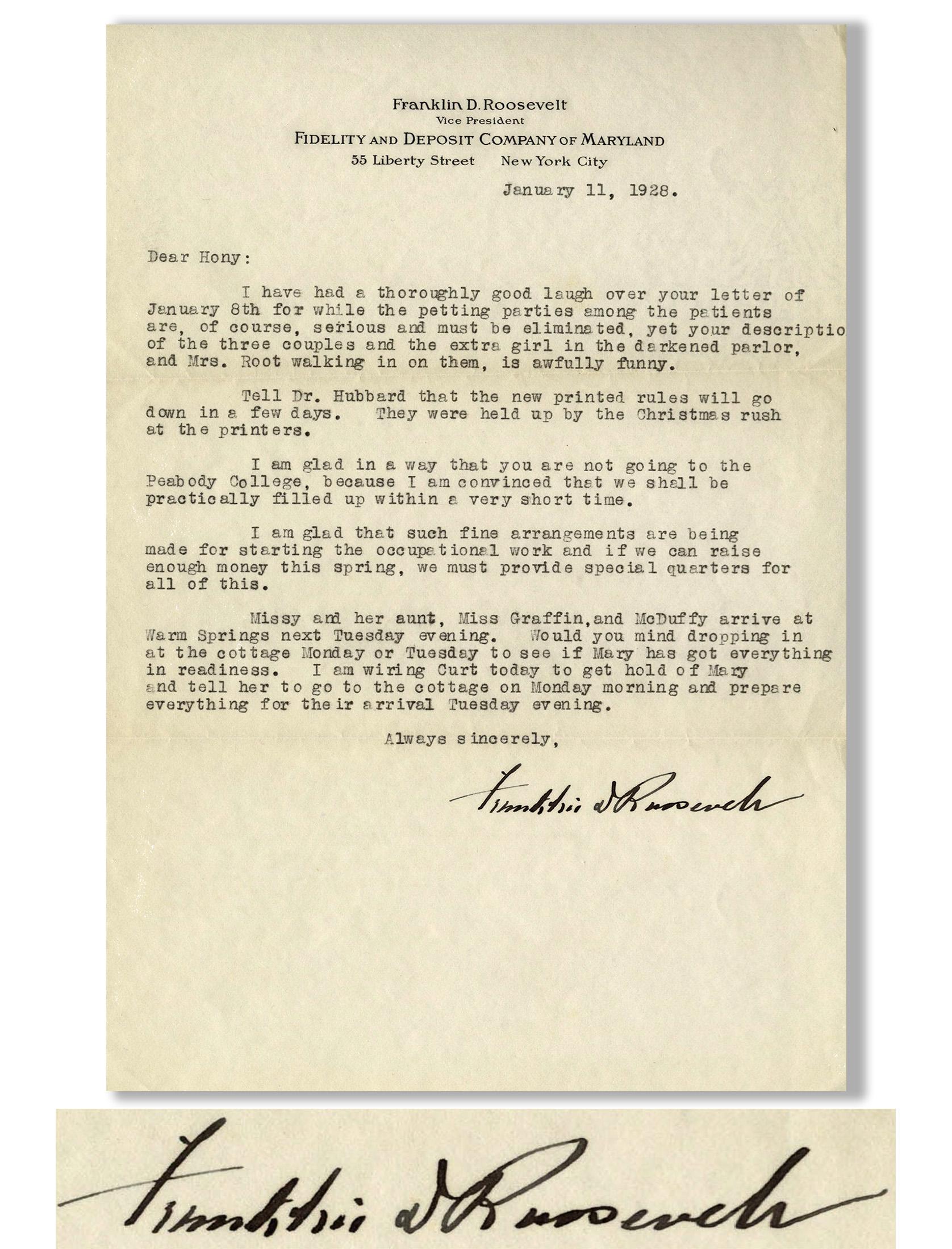Franklin D Roosevelt Memorabilia