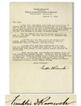 Franklin D. Roosevelt Letter Signed to His Physical Therapist -- ...I have had a thoroughly good laugh over your letter...while the petting parties among the patients are, of course, serious...