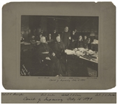Large 9.5 x 7.5 Photograph From 1899 Documenting the Military Court of Inquiry Convened to Investigate the Embalmed Beef Scandal, Exposing the Chicago Meatpacking Industry