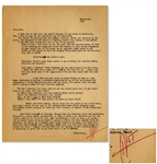 Hunter S. Thompson Letter Signed HST in Bold Red Ink -- ...my mother keeps asking me when Im going to finish the book...