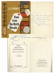 J.C. Penney Signed Autobiography -- View from the Ninth Decade -- Success has no secrets...