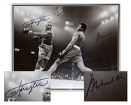 Muhammad Ali & Joe Frazier Signed 20 x 16 Photo From the Fight of the Century -- With Steiner Certification