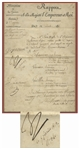 Napoleon Bonaparte Military Document Signed in 1812 as Emperor of France