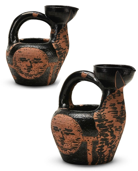 Pablo Picasso ''Centaure et Visage'', Number 188 -- Pitcher Created at the Madoura Pottery Studios in a Small Edition of 125