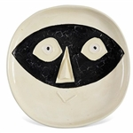 Pablo Picasso Tete au Masque, Number 362 -- Dramatic & Playful Ceramic Created at the Madoura Pottery Studios