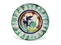Pablo Picasso Corrida aux Personnages, Number 104 -- Colorful Ceramic Plate Created at the Madoura Pottery Studios in Very Small 50 Edition, Painted by Picasso in His Quintessential Style