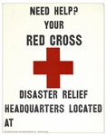 Red Cross Disaster Relief Poster