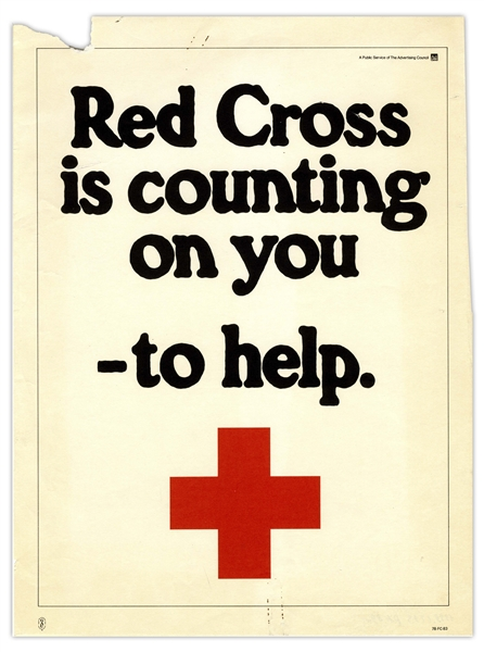 Red Cross Advertising Poster