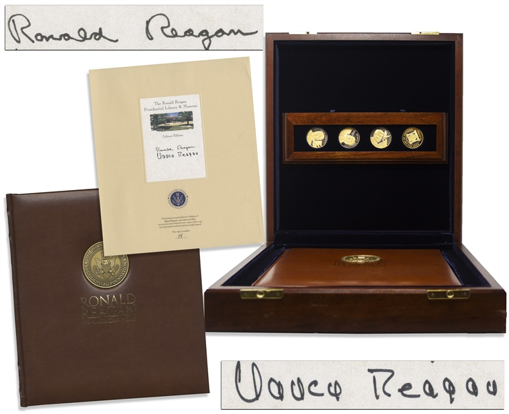 Ronald Reagan Scarce Signed Limited Edition of ''Ronald Reagan An American Hero'', Also Signed by Nancy Reagan -- One of Only 250 in the Exclusive Limited Edition