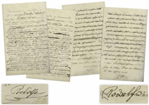 Rudolph Valentino Autograph Letter Twice-Signed With His Real Name Rodolfo, as a 15-Year Old -- ...I dont do anything except go to the Cafe-Chantant and have fun with the singers there...
