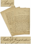 Rudolph Valentino Autograph Letter Twice-Signed From Agricultural School, Including With His Surname Rodolfo Guglielmi -- ...how much considerable satisfaction...floriculture, gives...