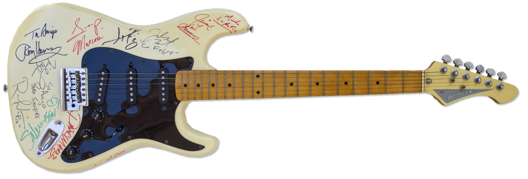 Selena Signed Electric Guitar From 1994 -- With Roger Epperson COA