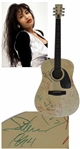 Selena Signed Acoustic Guitar From 1994 -- With Roger Epperson COA