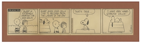 Charles Schulz Hand-Drawn Peanuts Comic Strip -- Featuring Charlie Brown and Snoopy From 1963 During the Golden Age of Peanuts