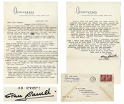 Stan Laurel Letter Signed With His Full Signature Stan Laurel -- Laurel Describes a Scene Cut From Swiss Miss: ...Re the bomb in the piano in Swiss Miss...