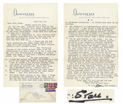 Stan Laurel Letter Signed -- ...The character of Lord Paddington [was] a nice change from my regular Dumb & Blank personality...