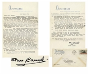 Stan Laurel Letter Signed With His Full Signature, Stan Laurel -- ...Another Fine Mess quote had no particular significance, we used it in many situations...