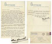 Stan Laurel Letter Signed -- ...I know Charlie Chaplin very well...MR LAUREL & MR HARDY describes all this...Jean Harlow made her first appearance on the screen with L&H...