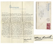 Stan Laurel Letter Signed With His Full Signature Stan Laurel -- ...I liked Chaplin, Harry Langdon, Buster Keaton, Fatty Arbuckle...