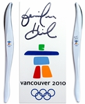 Olympic Torch Used in 2010 Vancouver Winter Games -- Signed by Skier Jennifer Heil, Who Won Gold in Torino & Silver in Vancouver
