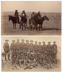 Two Original Photographs From 1891, Shortly After the Wounded Knee Massacre -- One Photograph Shows a Troop of Sioux Cavalry Scouts