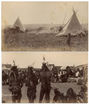 Two Original Unpublished Photographs From 1891, Shortly After the Wounded Knee Massacre -- One Photograph Depicts an Omaha Dance & the Other a Tipi Encampment
