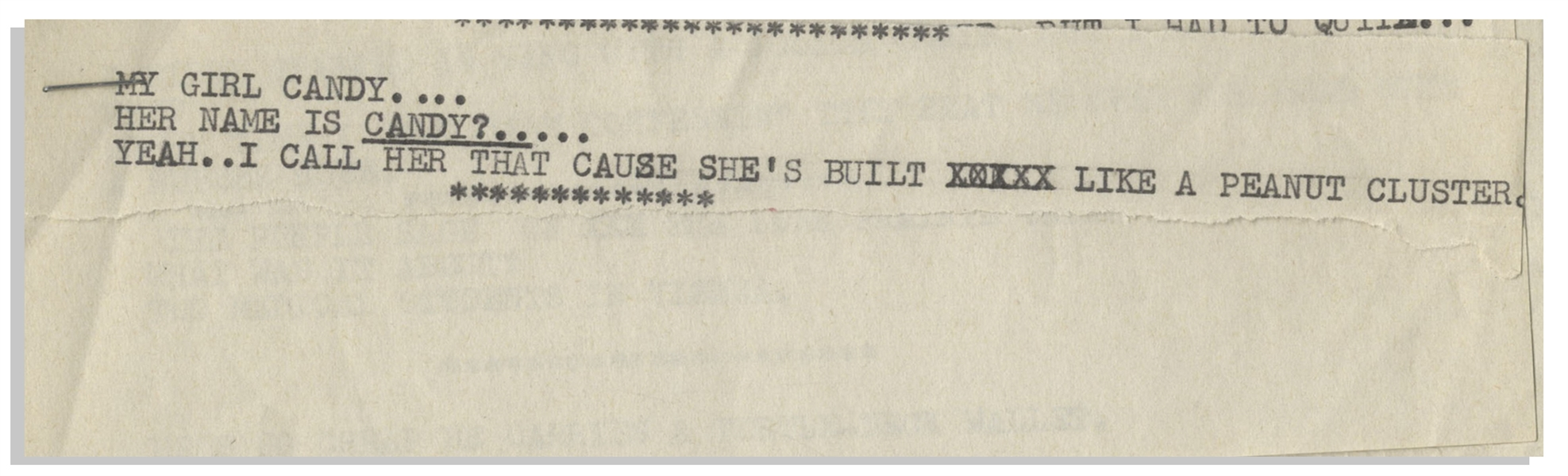 Moe Howard List of Jokes -- On Page of His 7.25'' x 10.5'' Stationery & Another on Partial 7.25'' x 3.75'' Stationery Page -- Rest on 3 Smaller Pieces of Paper, All Stapled Together -- Near Fine
