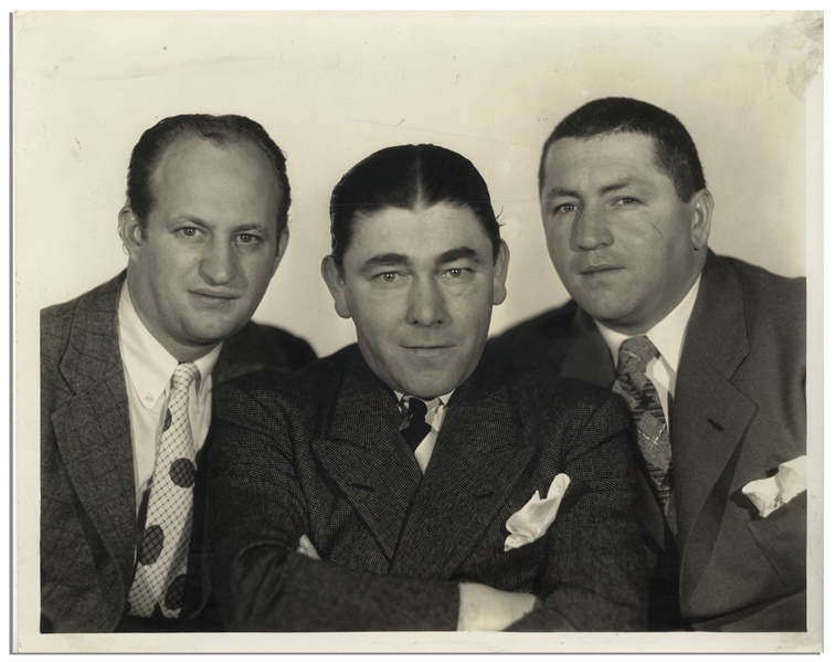 10 x 8 Glossy Publicity Photo of Moe, Larry & Curly, Circa 1934 -- Very Good Condition