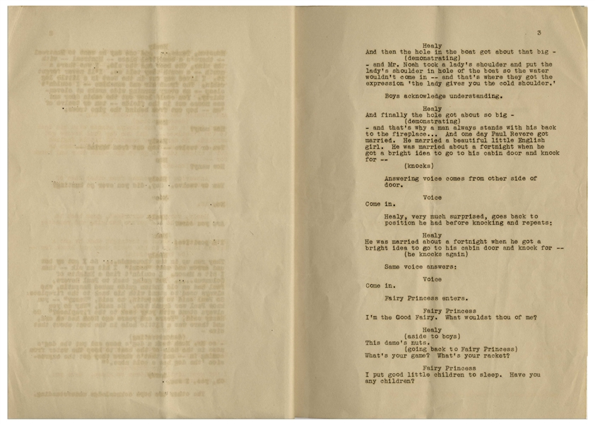 Moe Howard's 8pp. Script Dated May 1933 for the MGM Ted Healy Short ''Nertsery Rhymes'', With Early Draft Working Title ''Nursery Rhymes'' -- Very Good Condition